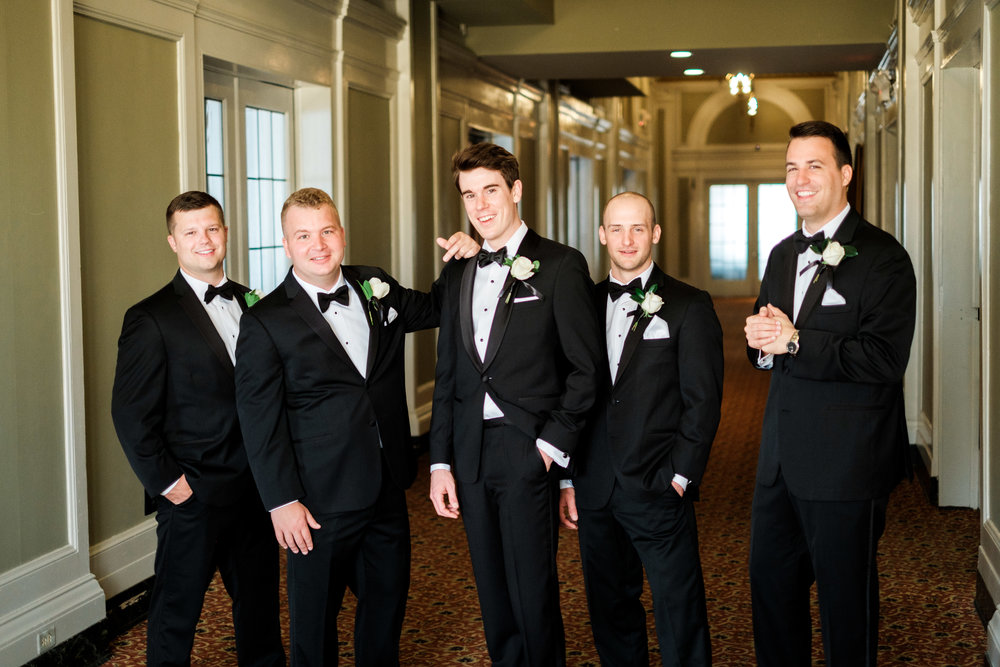 groomsmen hanging out at the greysolon ballroom in duluth