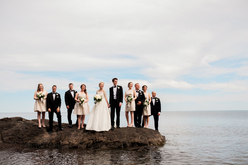 wedding party on the waterfront in duluth