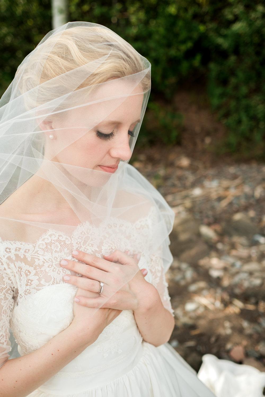 bride on the duluth lake superior shoreline