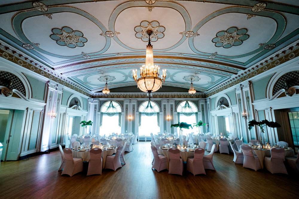 wedding reception at the greysolon ballroom in duluth, mn