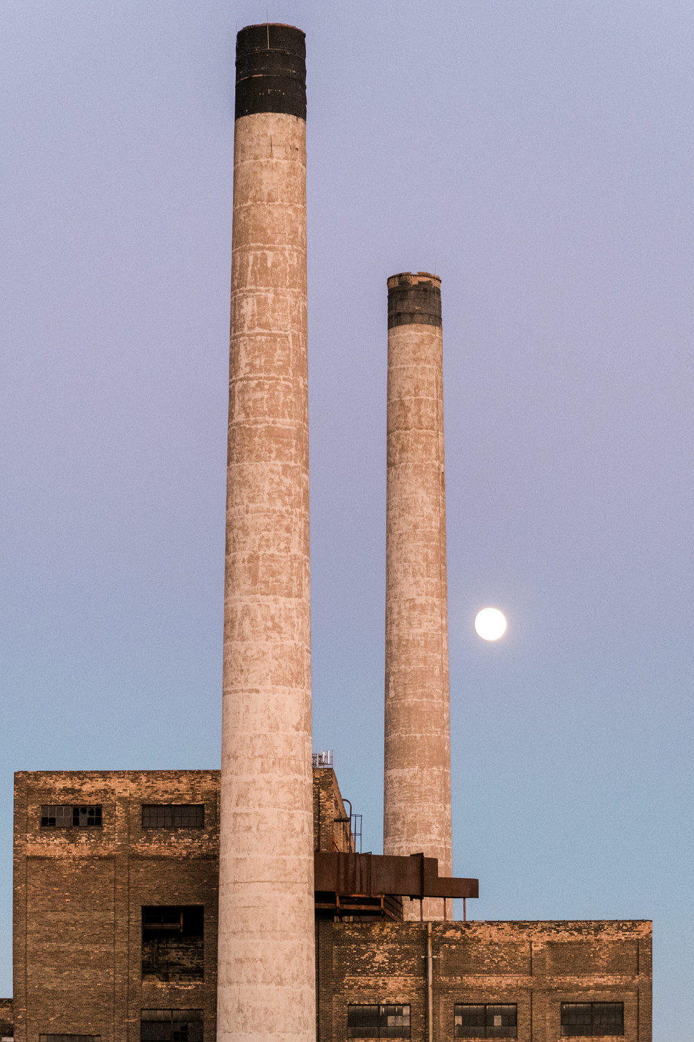 the smoke stack at the northern pacific center