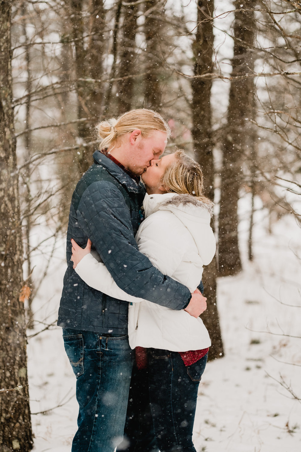 northern mn winter forest engagement session