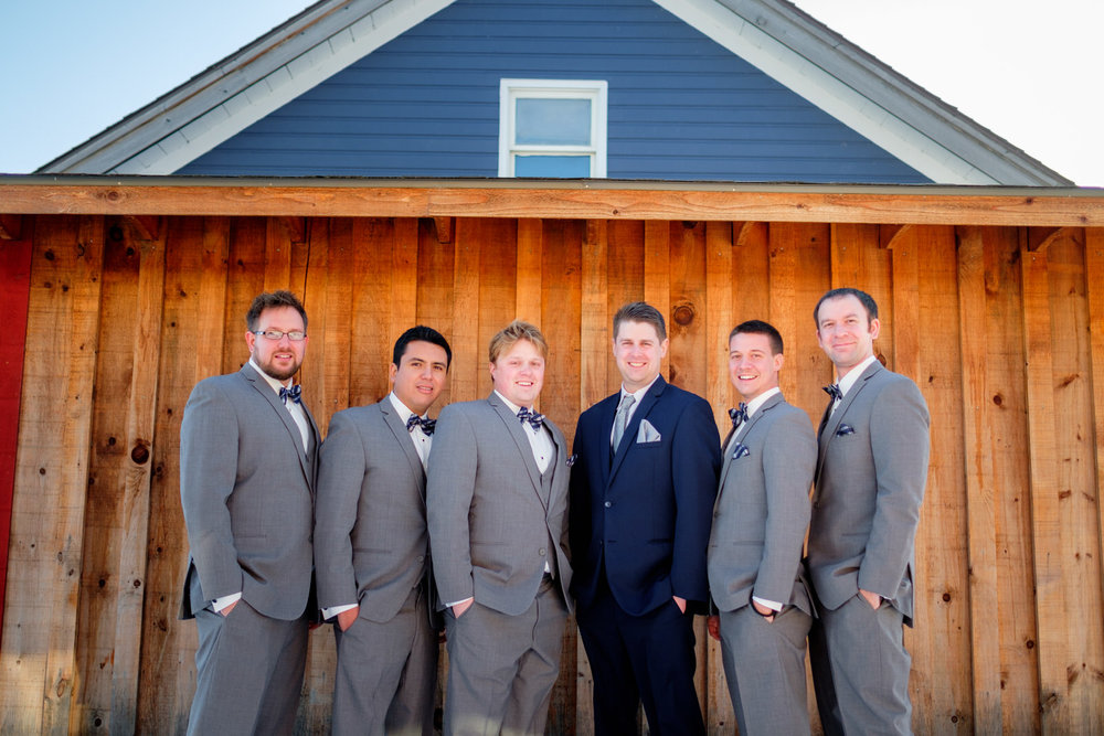 groomsmen at north house folk school wedding