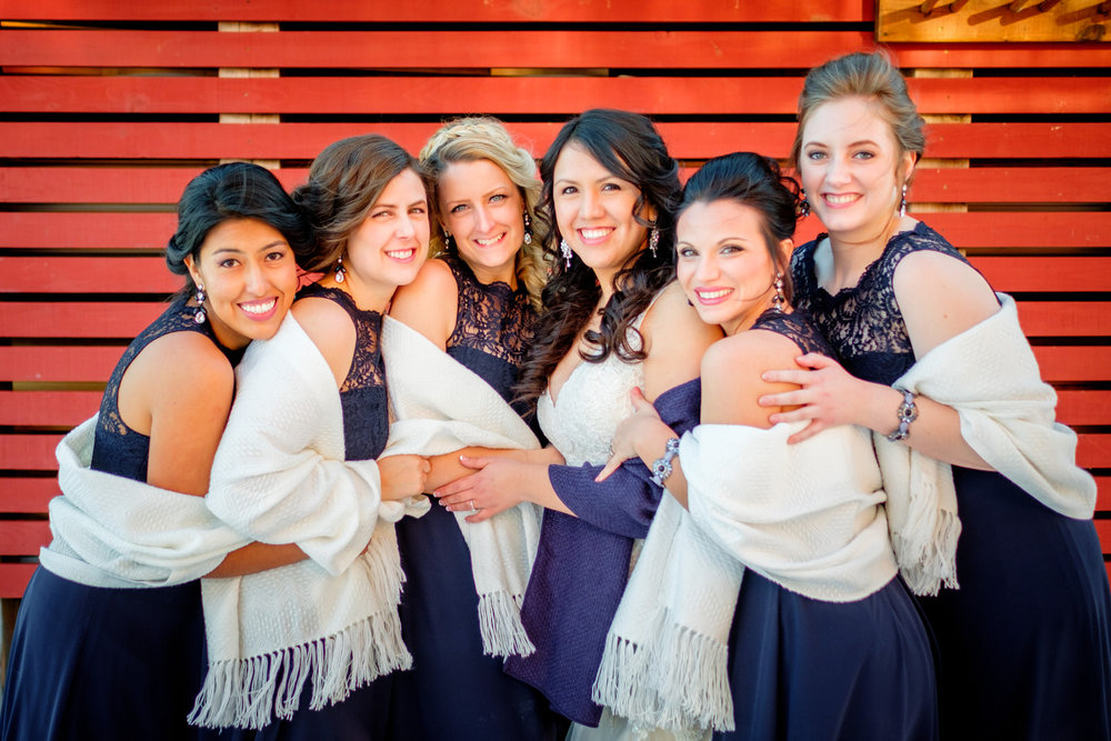bridesmaids at the northhouse folk school in grand marais, mn