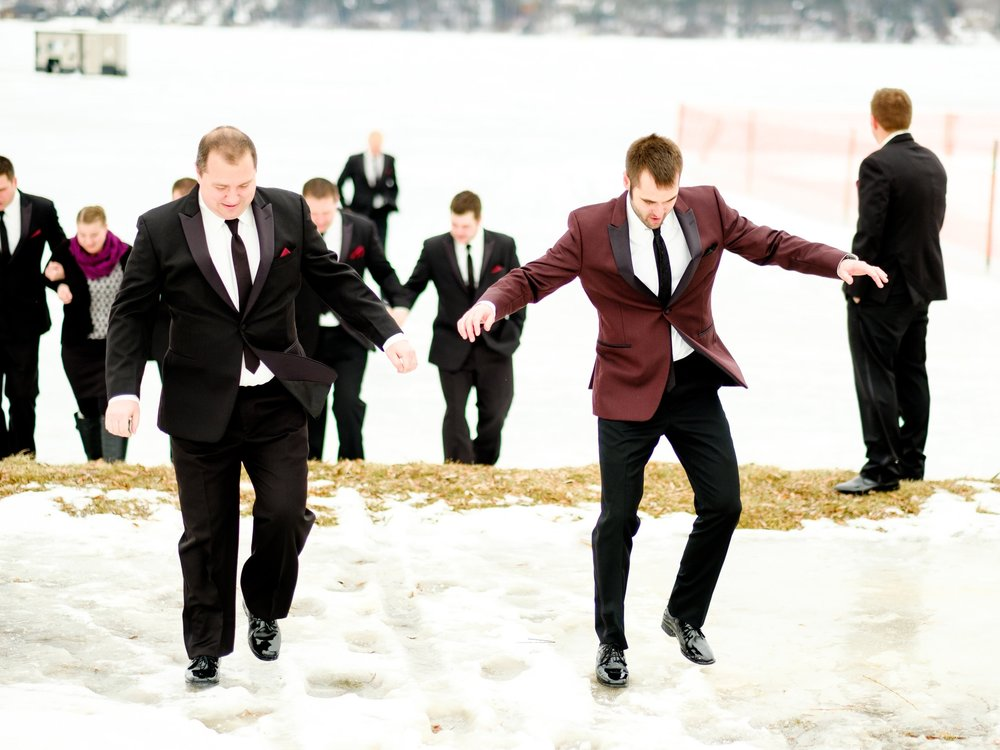 brainerd winter wedding at cragun's resort on gull lake