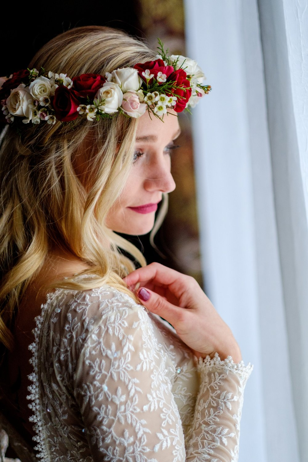 brainerd wedding in the winter at cragun's resort boho