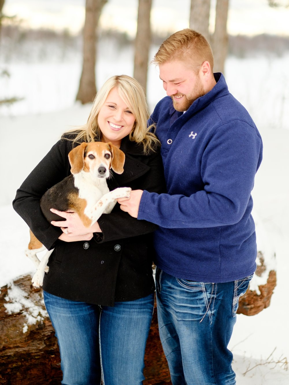 brainerd lakes winter wedding and engagement