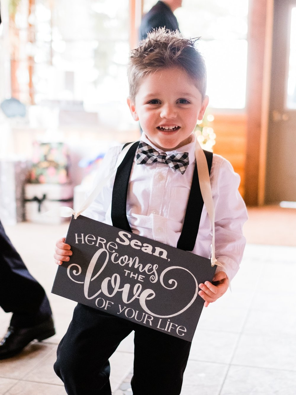 pine peaks wedding photogapher ring bearer portraits