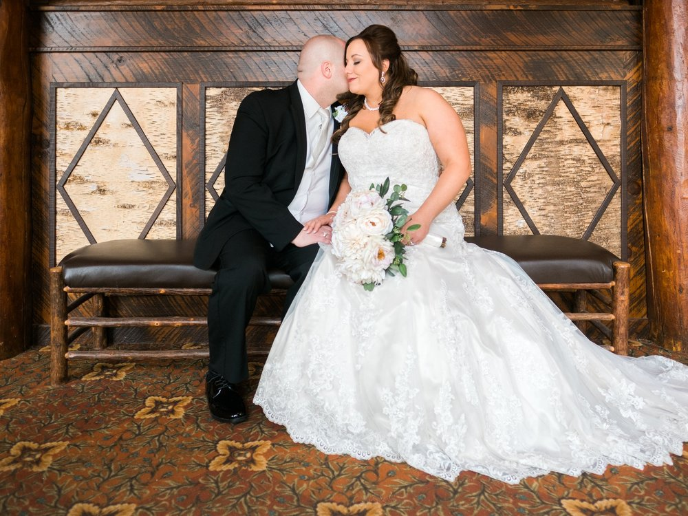 Grand View Lodge classic and historical lakeside wedding.