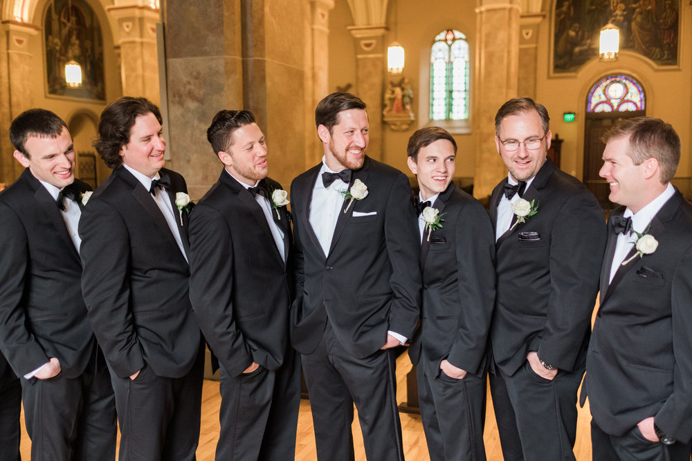 Groomsmen portraits in downtown Saint Paul
