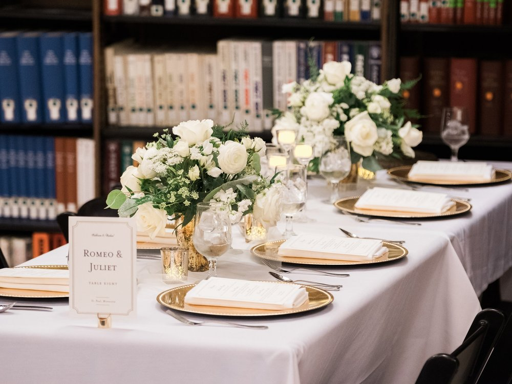 Wedding reception at the James Hill Library in Saint Paul, MN