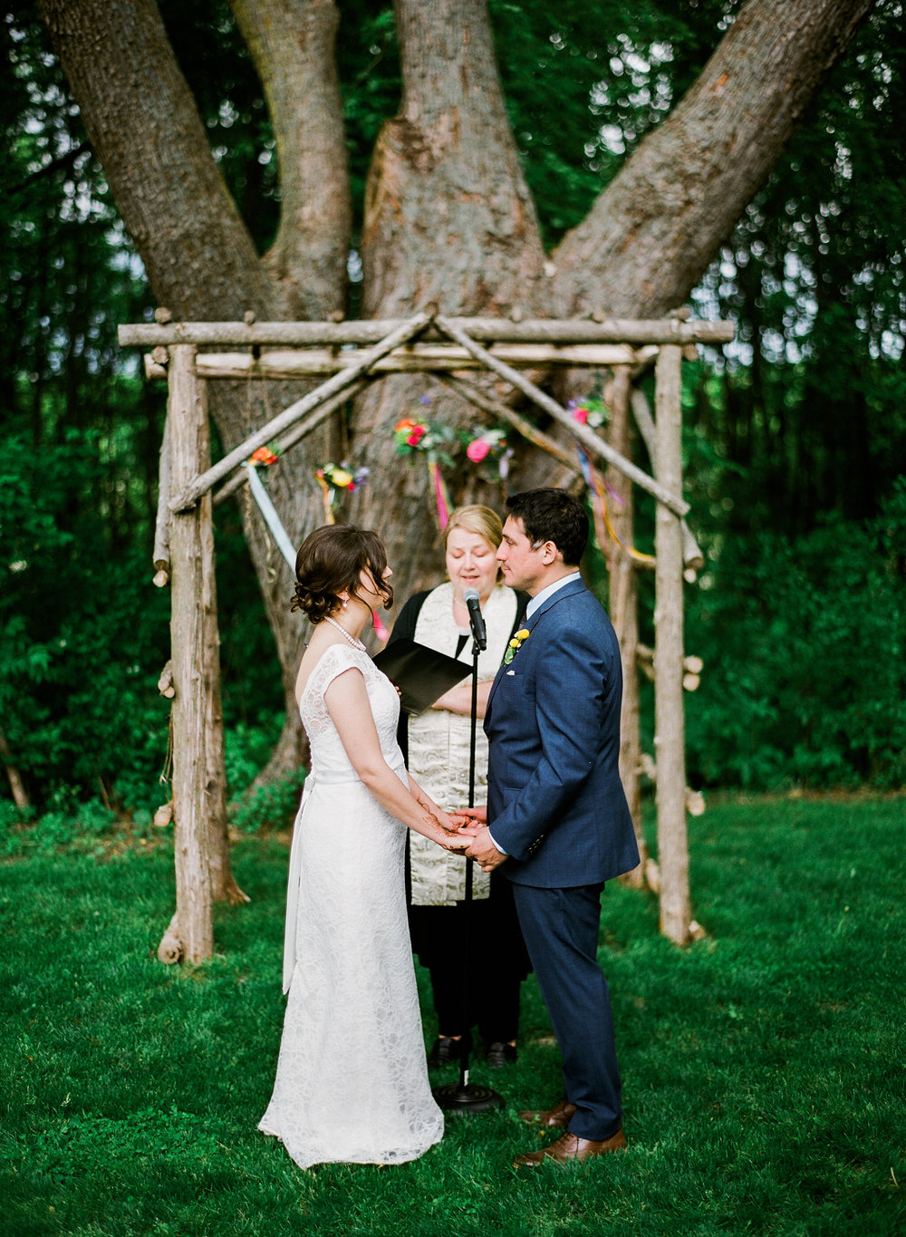Outdoor Barn wedding in Northern MN at Bloom Lake Barn
