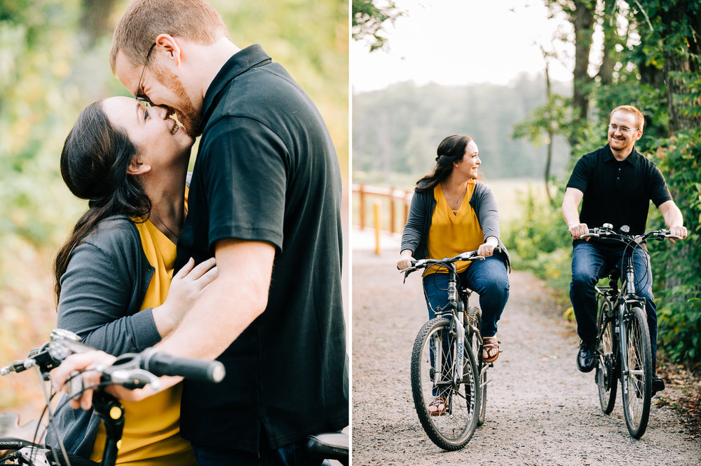Brainerd Minnesota Summer Bike Engagement Session