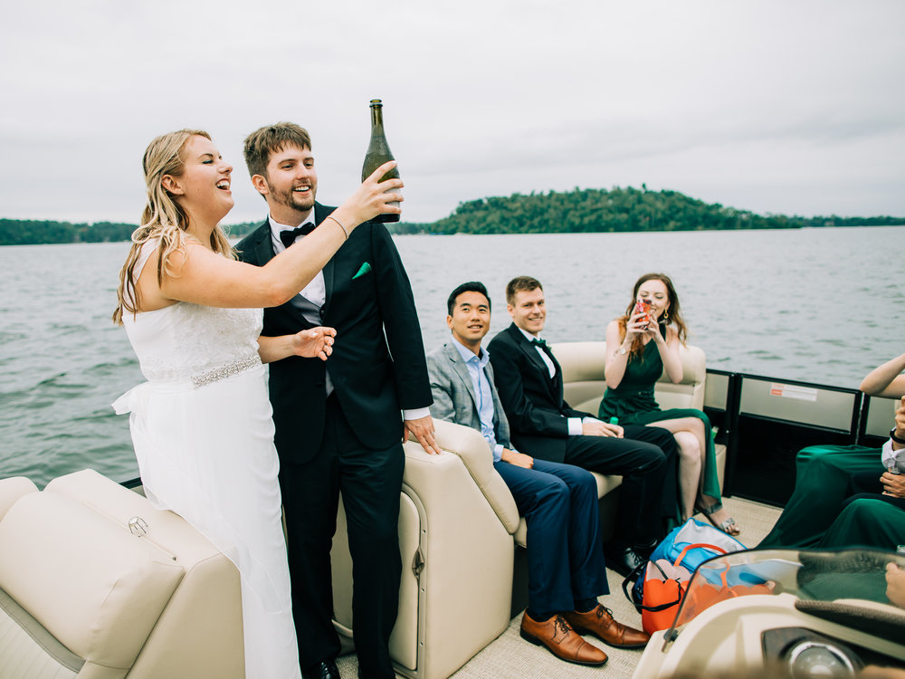 Craguns Resort on Gull Lake Wedding