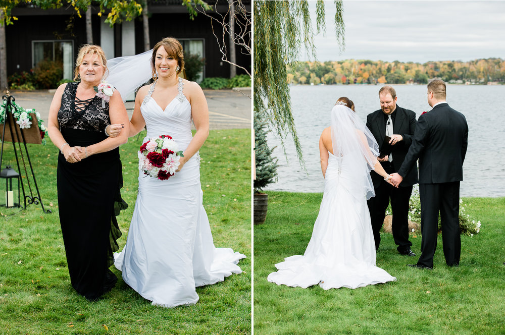 Cragun's Resort Fall Wedding on Gull Lake in Brainerd MN