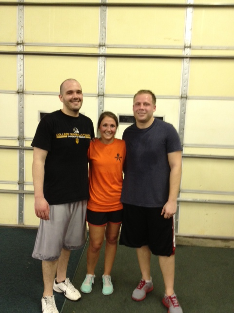Congrats to our newest PTC grads and now on to the WODS!  Great job Justin, Emily, and Jimmy... Keep up the good work.