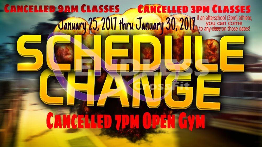 Click for Change in Schedule