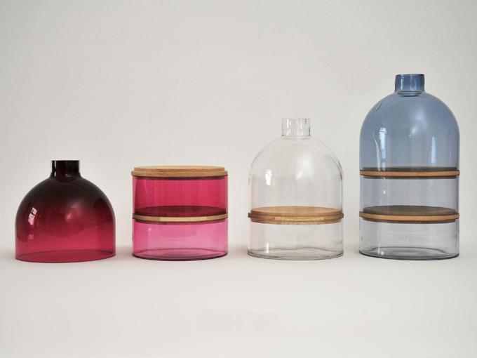 Porta objetos em Vidro - coleção Sample Avenue da designer de produtos polonesa Karoline Fesser, que hoje tem seu Studio na Alemanha.