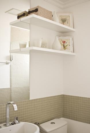Banheiro Social - Apartamento com até 99m2 - Fonte: Madi Arquitetura e Design