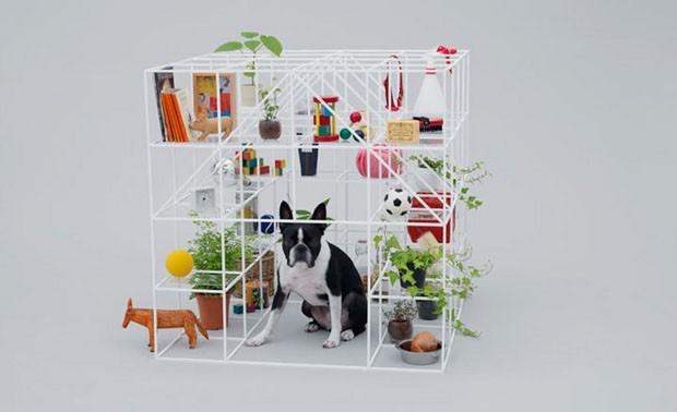 Foto da casinha criada pelo designer Sou Fujimoto - Fonte: designerhttp://casavogue.globo.com/Design/noticia/2012/11/arquitetura-cachorros.html