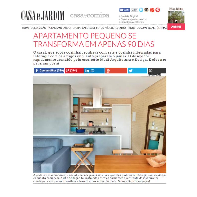 Revista Casa e Jardim  Julho/2016