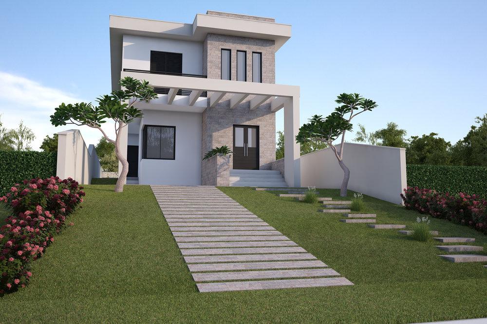 Elevação Principal  Residência Itaí- Itaí/ SP - 140 m2  Projeto: Madi Arquitetura & Design  Imagem: Hugo Alexandre