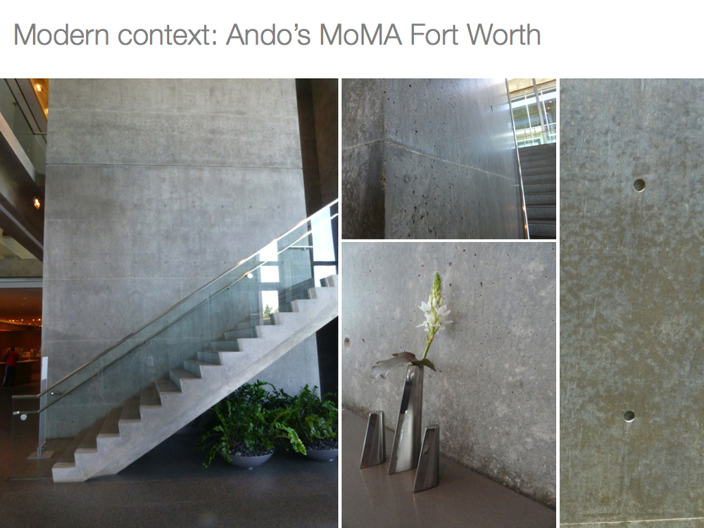Fort Worth MoMA concrete walls