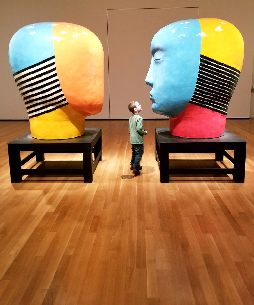 Untitled, Heads , by Jun Kaneko, Akron Art Museum