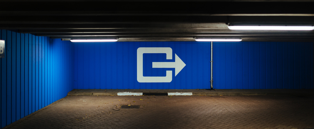 Exit the parking