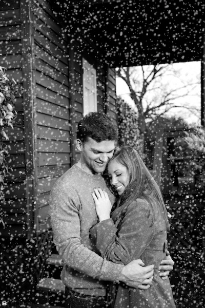 Kelli and Kyles snowy save the date card