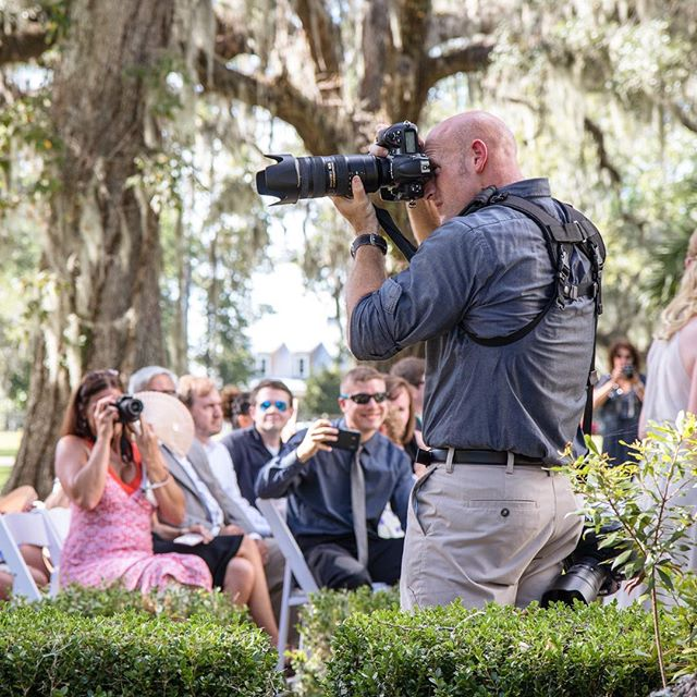 @beavbrodie got a shot of me photographing this weekends #wedding in Bluffton, SC at the #rosehillmanor It was such a beautiful wedding! Can't wait to share some of the photos!