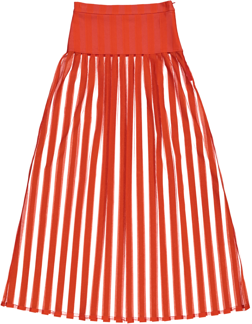 MODEL | 302  STYLE | 19 STRIPE RED  transparent/red striped long skirt