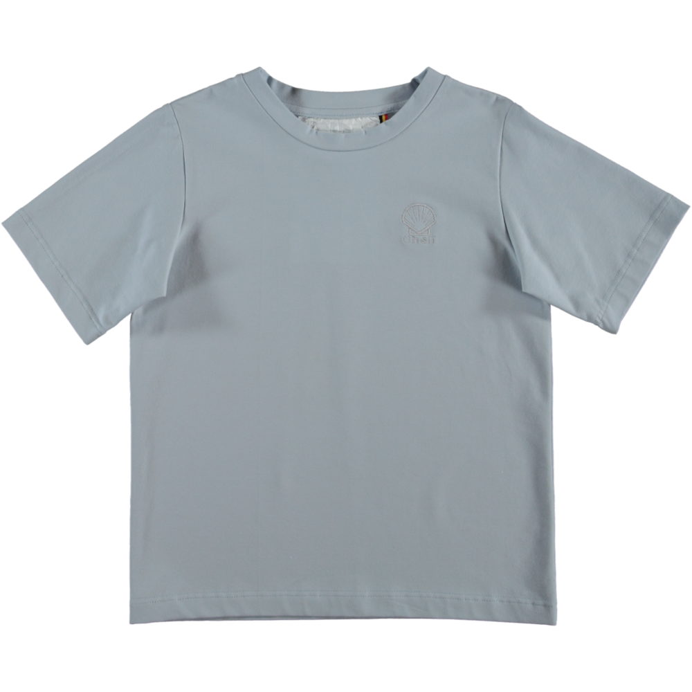 MODEL | 121  STYLE | 31 CO JERSEY SKY  oversized t-shirt with embroidery