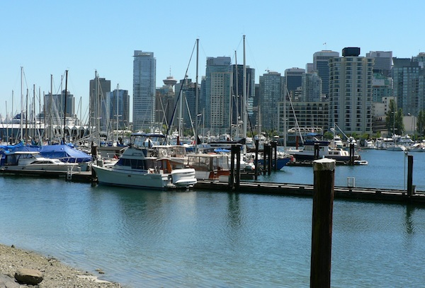 Coal Harbour downtown Vancouver