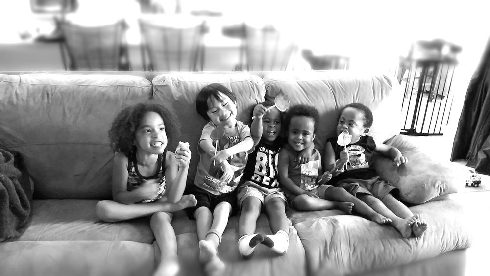 The Little Bits (from L-R):  Jasmine, Ben, David, Annika & Judah