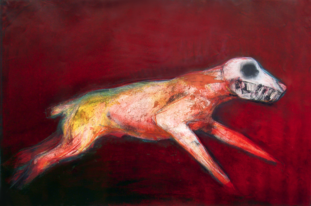 "Running Dog                       monoprint: image size: 36"" x 24""  NFS: giclee only"