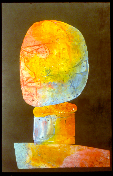 "Head color  collagraph, 20"" x 13.5""  collection of the artist"