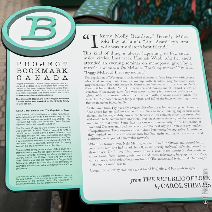 Bookmark 13: The Republic of Love.