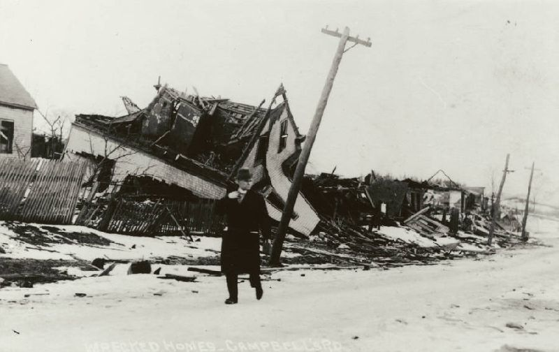 The aftermath of the Halifax Explosion, 1917.