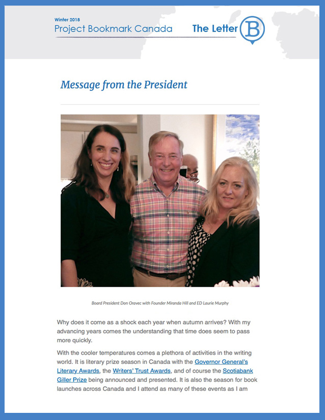 Click to read the latest newsletter!
