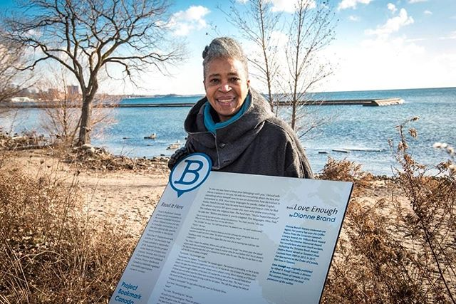 Thanks to @quillandquire for covering the unveiling of Dionne Brand's addition to the #CanLitTrail with Bookmark #22! You can now visit it for yourselves on #Toronto's lakeshore  https://quillandquire.com/omni/dionne-brands-love-enough-honoured-by-project-bookmark