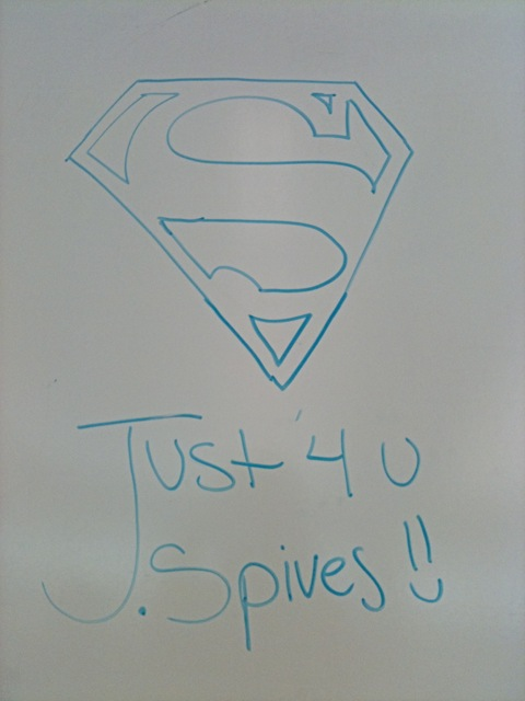 Discovered this on the classroom whiteboard.
