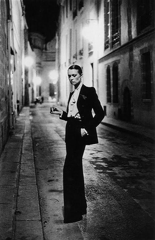 {Photo by Helmut Newton}