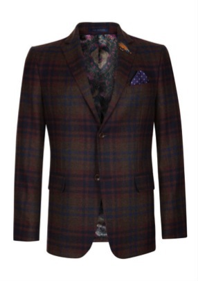 Wool check jacket by Ted Baker, $625