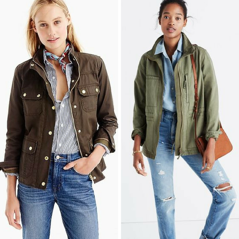 A couple of my favorite military jackets from  J. Crew  and  Madewell