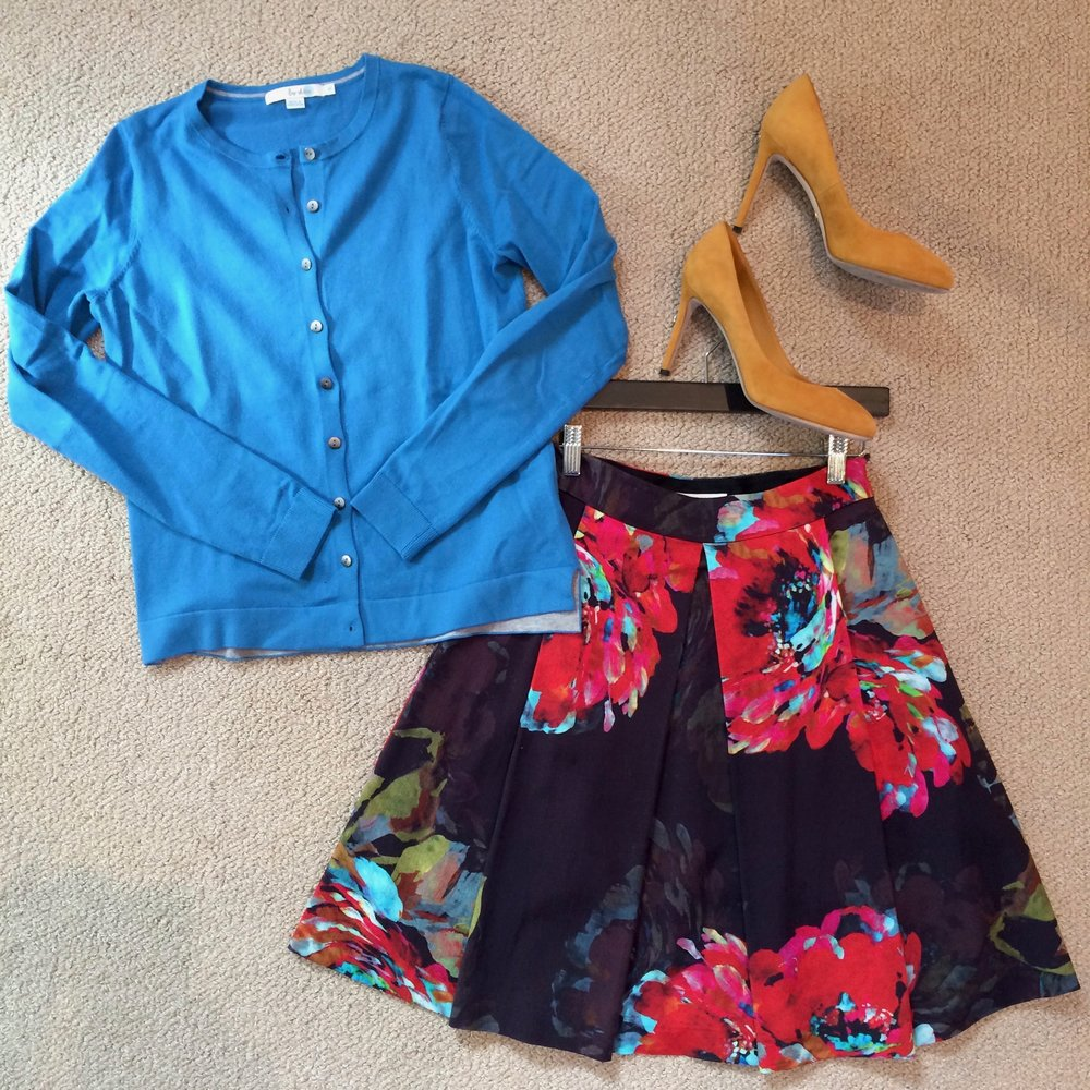 floral skirt and yellow heels.jpg