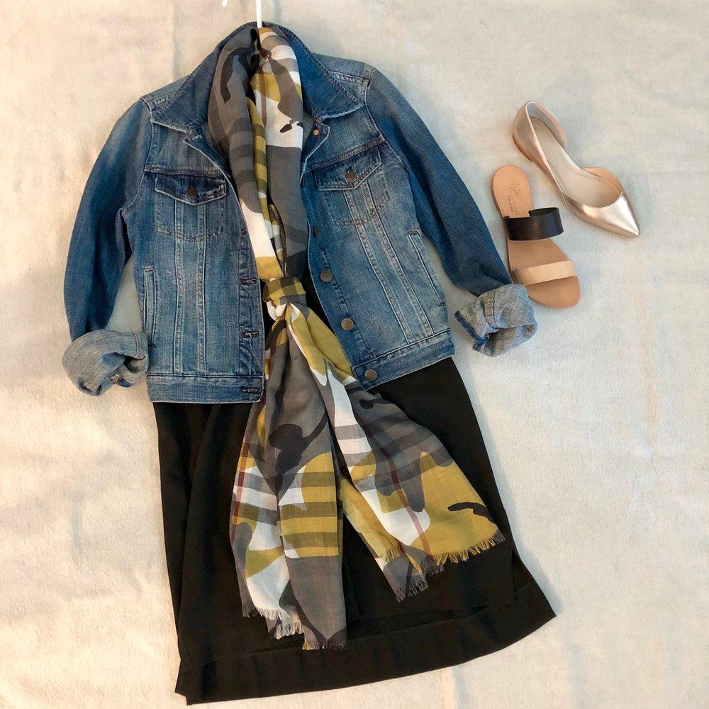 plaid scarf and black dress.jpg