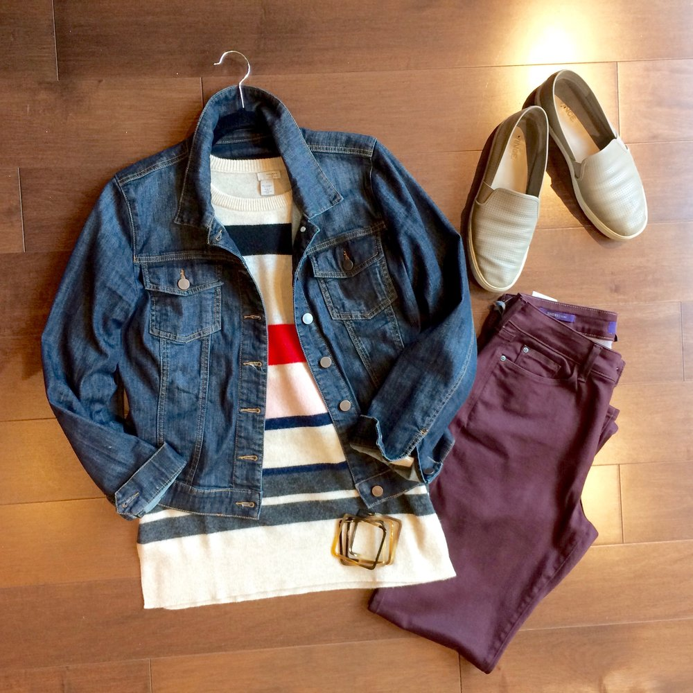colored jeans and denim jacket.jpg