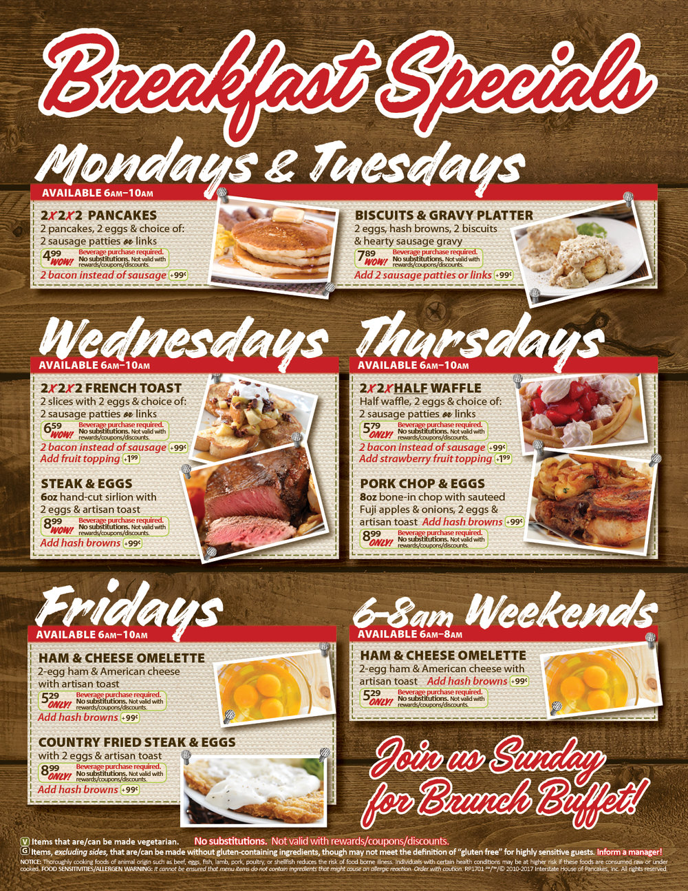 Breakfast Specials at Roll'n Pin