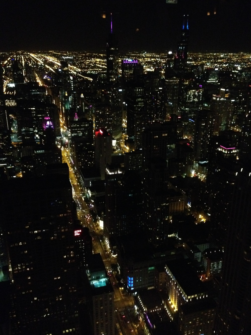 The View from the top of the Hancock